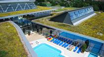 Dachbegrünungssystem SPARDACH auf dem Erlebnisbad Fildorado in Filderstadt